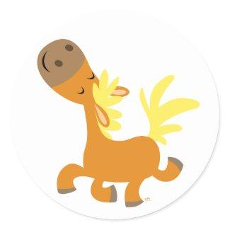 Happy Cartoon Pony Sticker sticker