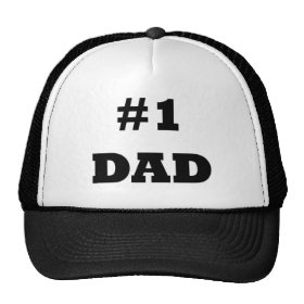 Happy Father s Day - Number 1 Dad -  1 Dad Trucker Hat 8193726d743c