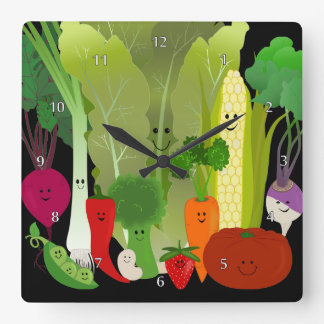 Vegetable Wall Clocks Zazzle