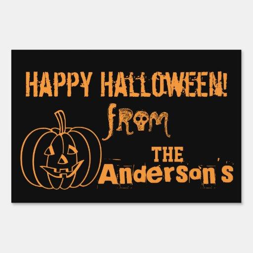 Happy Halloween Sign | Zazzle