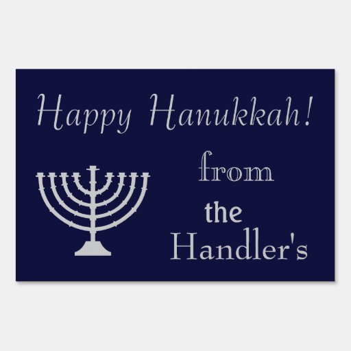 Happy Hanukkah Yard Sign | Zazzle