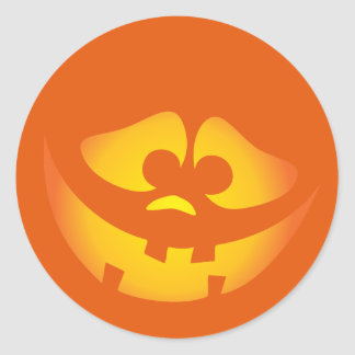 Aninimal Book: Happy Jack O Lantern Face Stickers   Zazzle