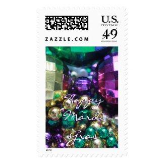 Colors of Mardi Gras Bead Throws Photo