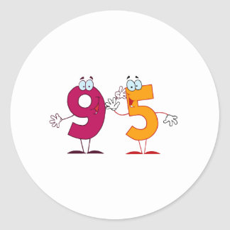 Number 95 Stickers