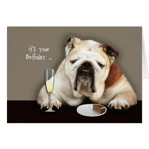 Happy Over The Hill Birthday, Birthday Humor, Dog Card