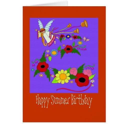 happy summer birthday ukrainian folk art card  zazzle