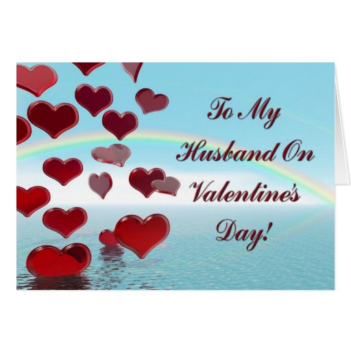 happy valentine's day for husband greeting card  zazzle