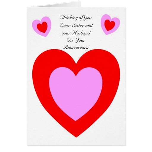 Wedding Anniversary Quotes To Sister: Happy Wedding Anniversary Sister And Husband Card