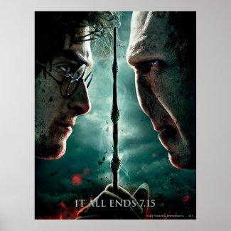 Harry Potter 7 Part 2 - Harry vs. Voldemort print