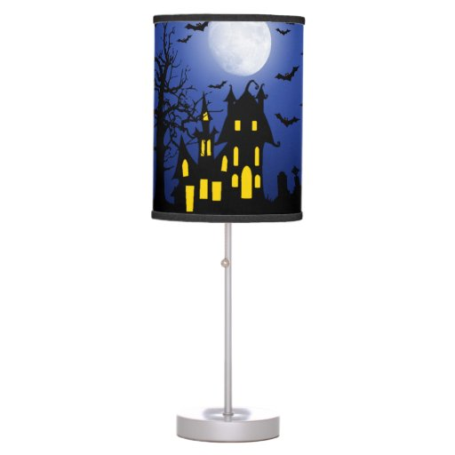 Haunted House On A Scary Night Table Lamp