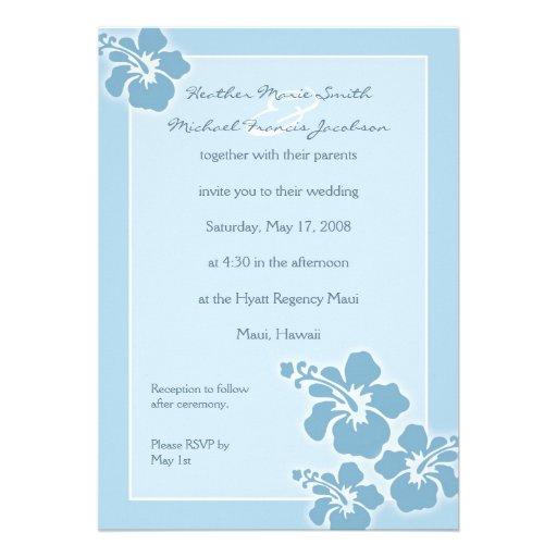 """Wedding Invitations Hawaii: Hawaiian Hibiscus Wedding Invitation 5"""" X 7"""" Invitation"""