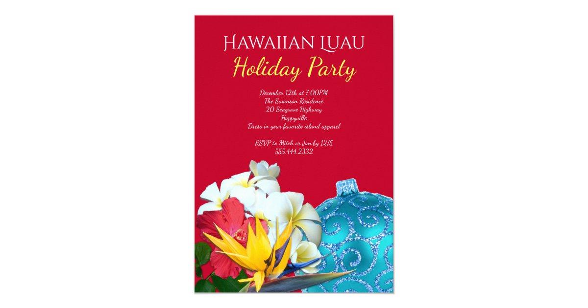 Hawaiian Luau Holiday Party Invitations Zazzle