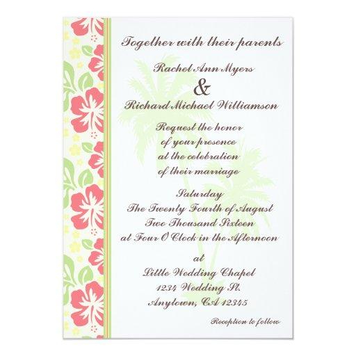 Wedding Invitations Hawaii: Hawaiian Luau Wedding Invitations
