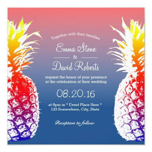 Wedding Invitations Hawaii: Hawaiian Pineapple Tropical Wedding Invitations