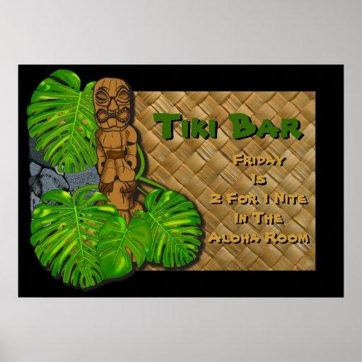 Inspiration Hut Grid Paper: Hawaiian Tiki Bar Poster