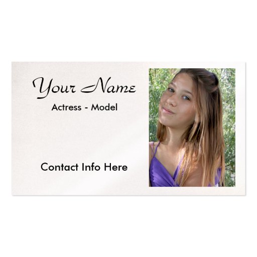 Headshot Actor Business Card Template