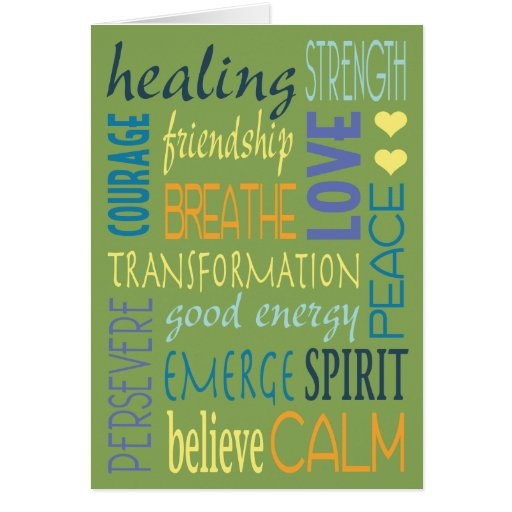 Healing Words Encouragement Card Zazzle
