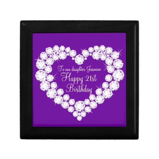Heart Daughter 21st Birthday Gift Box