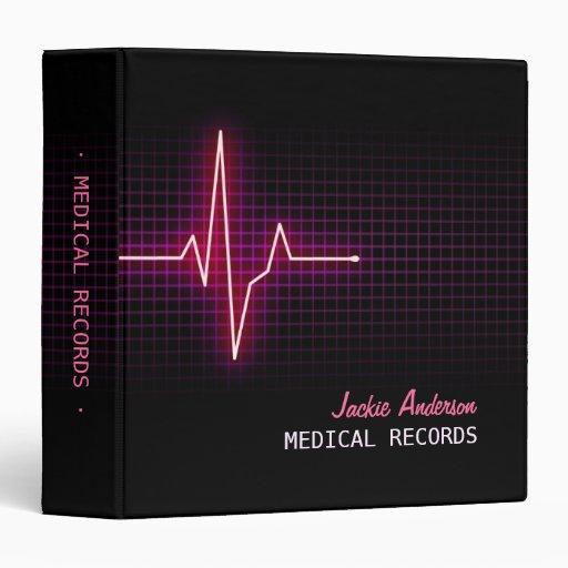 Heartbeat Pulse Medical Binder