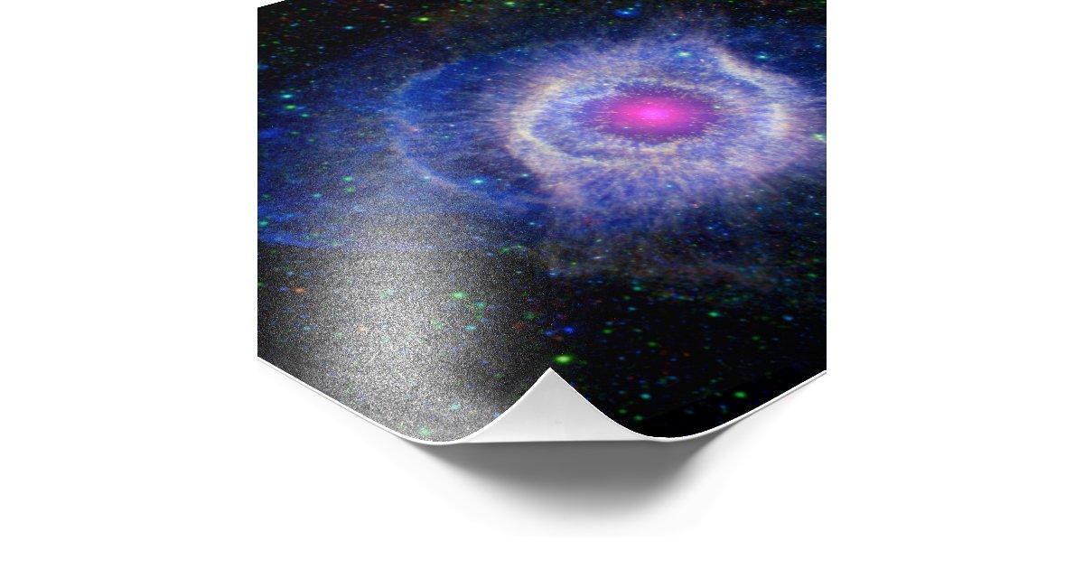 Helix Nebula NASA Purple Photo Print | Zazzle