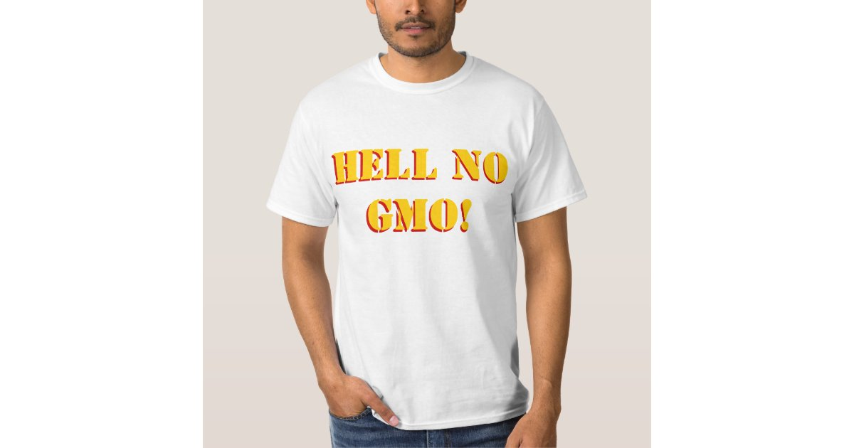 Hell No GMO - Choose Organic - Bumper Sticker / Decal (4