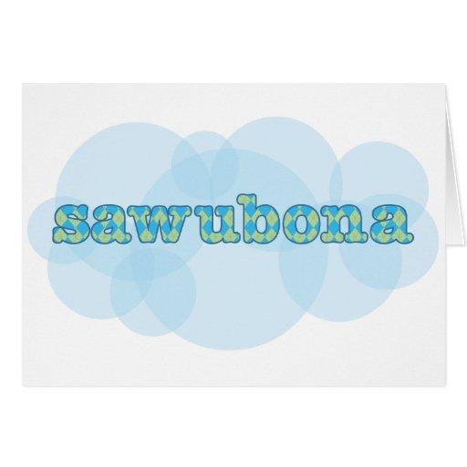 Hello In Zulu Wawubona Argyle Pattern Card