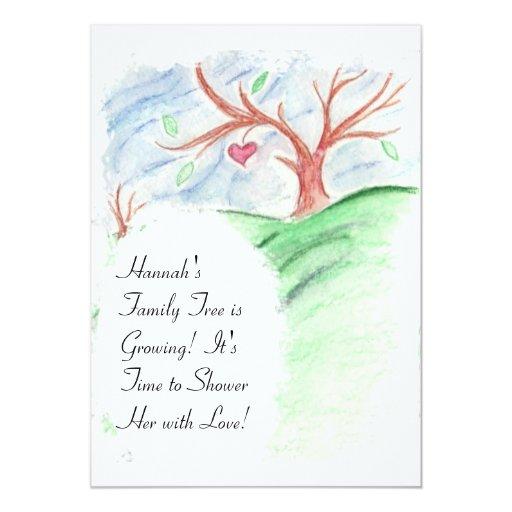 Family Baby Shower Invitations: Her Family Tree Is Growing -Baby Shower Invitation