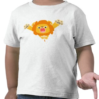 Here comes Trouble (cartoon Lion) children T-shirt shirt