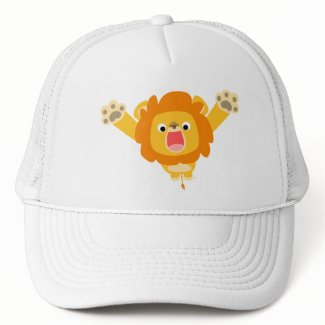 Here comes Trouble (cute cartoon Lion) hat hat