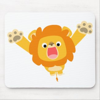 Here comes Trouble (cute cartoon Lion) mousepad mousepad