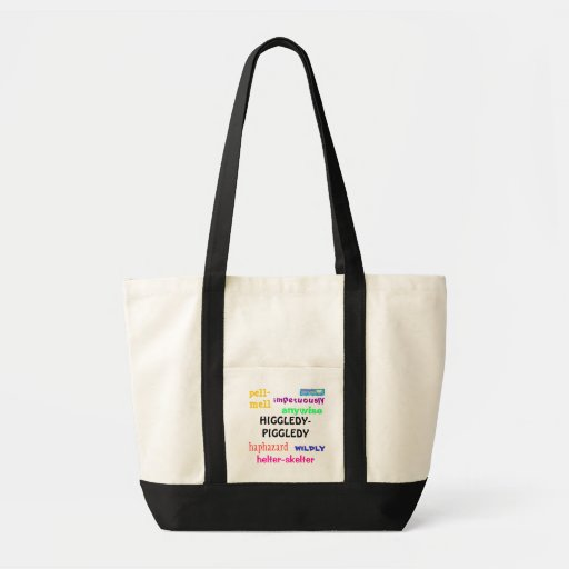 Higgledy Piggledy Synonym Tote Impulse Bag Zazzle