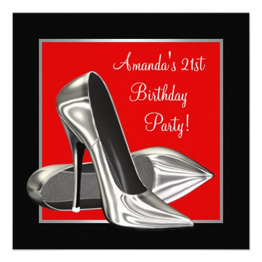 Personalized High Heels Invitations