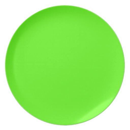 high visibility neon green melamine plate zazzle. Black Bedroom Furniture Sets. Home Design Ideas