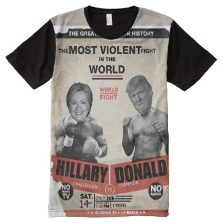 8f434e1dc9 Hillary Clinton vs. Donald Trump Vintage Boxing by candidates2008show. Look  at Hillary Panel T-Shirts online at Zazzle.com