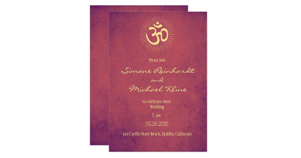 Hindu Wedding Invitation: Hindu Wedding Invitation, OM Symbol Card