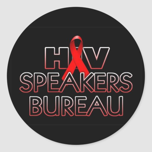 hiv speakers bureau x800bk classic round sticker zazzle. Black Bedroom Furniture Sets. Home Design Ideas