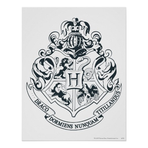 Gallery images and information: Gryffindor House Crest Black And White