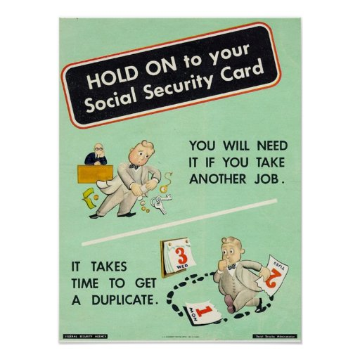 make a social security card template - hold on to your social security card posters zazzle