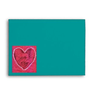 Holding Hands Heart envelope
