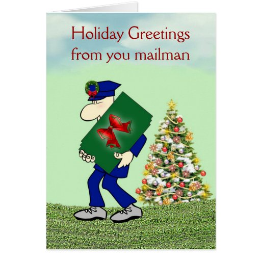 Holiday Greetings from you mailman Christmas Cards | Zazzle