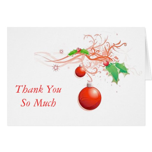 HOLIDAY THANK YOU NOTE CARD