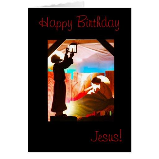 Holy Family - Happy Birthday Jesus Greeting Card