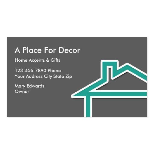 Home Decor Business Cards