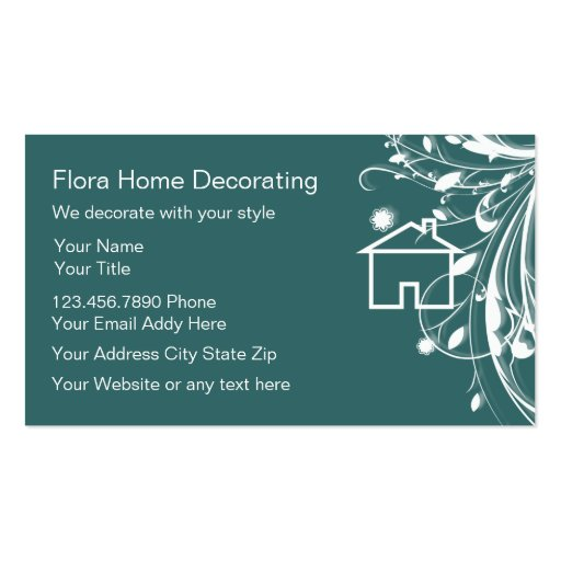 Home Decorating Business Card