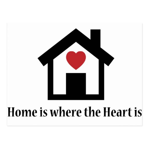 home is where the heart is postcard zazzle. Black Bedroom Furniture Sets. Home Design Ideas