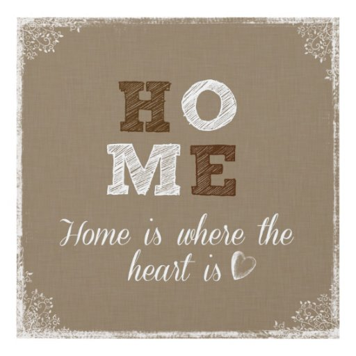 Home Is Where The Heart Is Quote: Home Is Where The Heart Is Quote Panel Wall Art