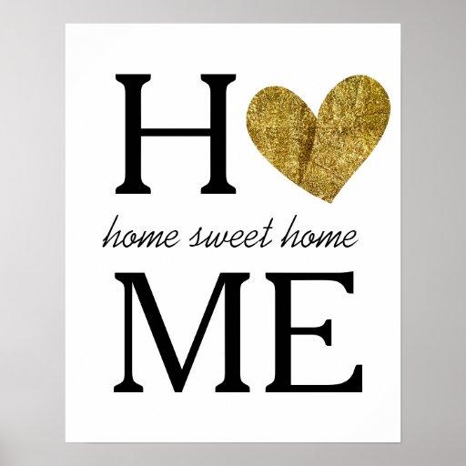 home sweet home poster zazzle. Black Bedroom Furniture Sets. Home Design Ideas
