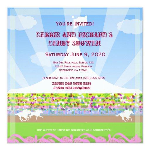 Horse Racetrack Jack & Jill Shower Party - Invitation