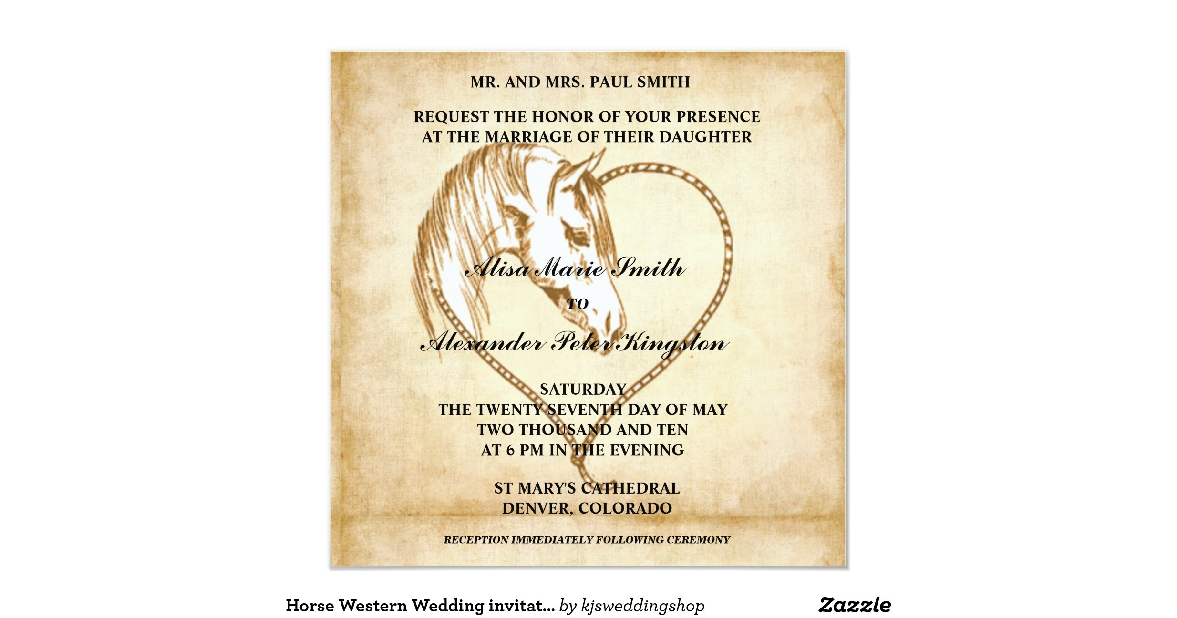 Western Wedding Invites: Horse_western_wedding_invitations_announcements