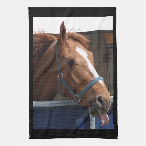 Hand Towel Near Me: Horsing Around - Cheeky Chestnut Horse. Hand Towel